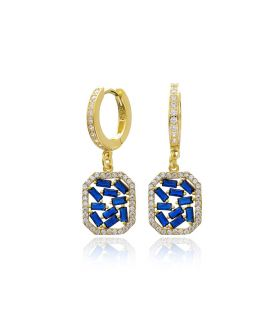 Earrings rectangle with...