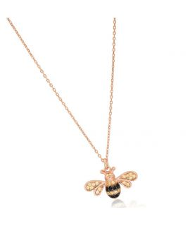 Collier abeille et ses diamants