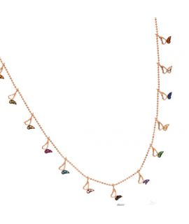 Necklace with colorful...