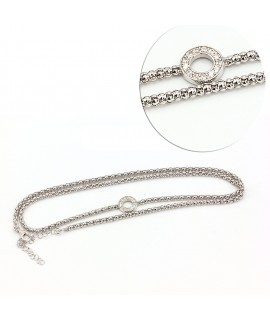 Silver multi-tower bracelet...