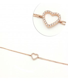 Bracelet gold plated heart...